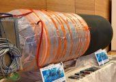 Ein CFK-Boostergehäuse, gefertigt mittels digitalisiertem  Vakuuminfusionsprozess, wurde erstmals auf dem Deutschen Luft- und  Raumfahrtkongress in Darmstadt 2019 (Bildquelle: Fraunhofer LBF)