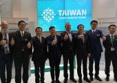 Die Podiumsteilnehmer beim Taiwan Expert Talk auf der K 2019 (Bildquelle: Ralf Mayer/Redaktion Plastverarbeiter)