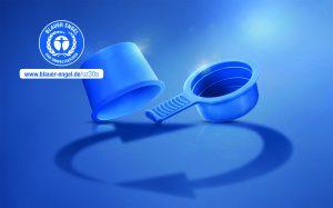 Die mit dem Blauen Engel ausgezeichneten Schutzkappen bestehen zu 100 Prozent aus Post-Consumer-Rezyklat. (Bildquelle: Pöppelmann)