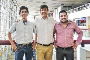 Das Team Chile von Noblecorp, von links: Osvaldo Caro (Technik), Jean Paul Cohn (Geschäftsführung), Carlos Díaz (Vertrieb). (Bildquelle: Engel)