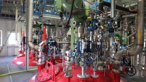 Mess- und Regeltechnik zur Herstellung von Pasten-PVC-Spezialitäten für Kunden weltweit. (Bildquelle: Vinnolit)