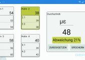 Die App zeigt die biegekompensierte Dehnung aller Holme und den Durchschnittswert der Dehnungen an. (Bildquelle: Gefran)