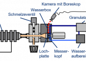 Schematischer Versuchsaufbau zur experimentellen Ermittlung des Blasenwachstums von treibmittelbeladenen Kunststoffschmelzen (Bildquelle: IKT)