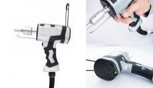 Die handlichen Ultraschall-Handschweißpistolen eignen sich zum Punktschweißen, Schneiden, Nieten, Einbetten, Einsenken und Bördeln von thermoplastischen Kunststoffen. (Bildquelle: Rinco Ultrasonics)