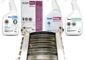 PDI hat Spezialpolymere von Solvay auf ihre Verträglichkeit mit Desinfektionsmitteln getestet. (Bildquelle: PDI Healthcare)