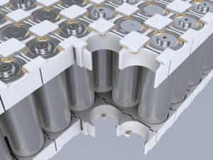 Batteriemodule mit zylindrischen Zellen (Bildquelle: Henkel)