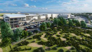 Das Gebäude umfasst Produktion, Logistikbereich und Büroräumlichkeiten auf einer Fläche von 30.000 Quadratmetern. (Bildquelle: Alpla)