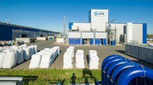 Blick auf das Werksgelände des Recyclingunternehmens in Merseburg. (Bildquelle: APK)