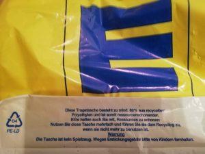 Plastiktüten sind gut recyclebar, aber verboten. (Bildquelle: Buergofol)