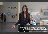 Das Unternehmen öffnet virtuell seine Forschungseinrichtungen und Produktionsstätten. Eine Moderatorin führt Interessierte durch die Virtual Tour. (Bildquelle: Trelleborg)