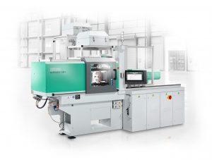 Die LSR-Abdeckkappen für Mikroschalter werden auf einem elektrischen Allrounder 270 A gefertigt. (Bildquelle: Arburg)
