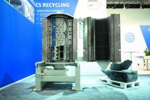Das Maschinenkonzept verbindet einen vertikal angeordneten Schredderrotor mit einem Schneidmühlenrotor. (Bildquelle: Hosokawa Alpine)