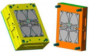 Prototypen-Spritzgießform zur Herstellung der Gesichtsschutzschilder. (Bildquelle:  Hörl Kunststofftechnik)