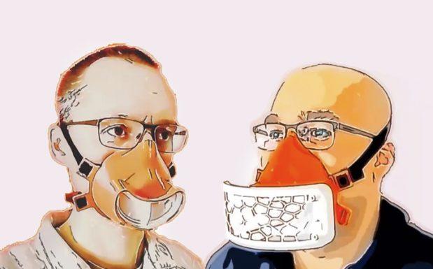 Anfang April wurden in kurzer Zeit zwei Varianten einer wiederverwendbaren Mund-Nasen-Maske von Sauer & Sohn aus Dieburg realisiert. Das Produkt verfügt über ein wechselbares Filtermedium, das mit einer Befestigungsspange von außen auf die Kunststoffmaske gesteckt wird. (Bildquelle: VDWF)
