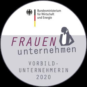 """BMWi-Siegel der Initiative """"Frauen unternehmen"""". Bildquelle: BMWi)"""