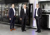 Die Führungskräfte bei Kiefel, v.l.n.r.: Stefan Moll (CTO), Thomas J. Halletz (CEO), Peter Eisl (CFO). (Bildquelle: Kiefel)