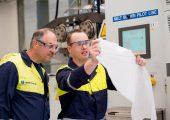 Auf einer Pilotanlage in Linz produziert Borealis PP-Meltblown-Vliess für Atemschutzmasken. (Bildquelle: Borealis)