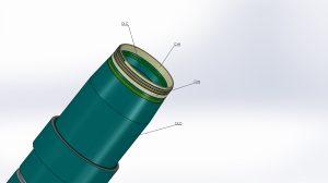 Ausschraubhülse im Bereich des Gewindes mit Hyperslip CrN Beschichtung und im hinteren Bereich mit einer DLC-Schicht (Kombibeschichtung). (Bildquelle: Cemecon)