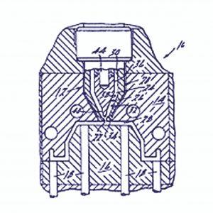 Aus der Frühzeit der Angusstemperierung: Im Jahre 1958 war die von einer Heizpatrone innenbeheizte Düse ein Meilenstein zur Reduzierung des Stangenangusses. (Bildquelle: Incoe Corporation, USA)