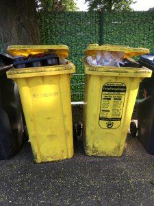 Das Verpackungsmüllaufkommen übersteigt die Kapazitäten der Wertstofftonnen. (Bildquelle: Alice Quack)