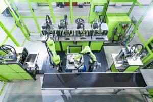 Beispiel einer Fertigungszelle in der LIT Factory (Bildquelle: JKU-LIT)