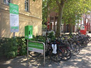 Städtische Ladeinfrastruktur für E-Bikes (Bildquelle: Alice Quack)