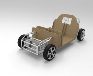 Das Modell Lina ist das erste strukturell biobasierte Auto der Welt. (Bildquelle: : Keyshot by Luxion)