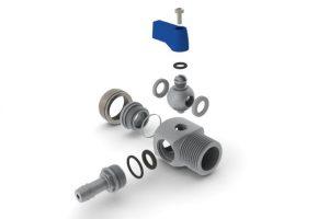 Metallersatz: Dieser Spülhahn eines Wasseraufbereiters von Brita besteht aus 18 unterschiedlichen Produkten, zum Teil aus hochwertigen Metallen. (Bildquelle: Britta Pofessional)