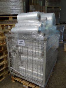 Anfahrrollen werden beim Hersteller als Wertstoff gesehen und intern rezykliert. (Bildquelle: Simone Fischer/Redaktion Plastverarbeiter)