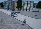 Fahrzeug mit LED-Lichtband, das im Forschungsprojekt entwickelt wurde. (Bildquelle: DLR (CC-BY 3.0))