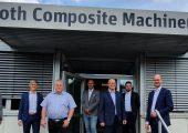 Roth Composite Machinery und das AZL beim ersten Treffen im Hause Roth, Steffenberg zu Beginn der AZL-Partnerschaft: Christoph Briel (Roth), Martin Rieger (AZL), Martin Grosskreutz (Roth), Ralf Möller (Roth), Dr. Andreas Reimann (Roth), Markus Breiing (AZL), Dr. Michael Emonts (AZL) (von links nach rechts). (Copyright: AZL Aachen GmbH. )