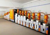 Der Fitnessgeräte-Hersteller setzt auf den neuen Trockner mit 16 Trocknungsbehältern (Bildquelle: Koch-Technik)