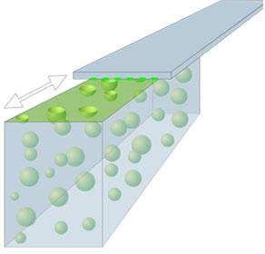 In einem gemeinsamen Forschungsvorhaben wurden mit Flüssigschmierstoffen gefüllte Mikrokapseln entwickelt. (Bildquelle: SKZ)