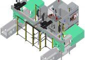 Teilehandling für zwei Spritzgießmaschinen und zwei Prüfstationen: die neue Arbeitszelle hat eine Zykluszeit von 4,5 Sekunden. (Bildquelle: Martin Mechanic)