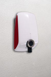 Wallbox zum Laden von Elektroautos mit Wechselstrom bis 22 Kilowatt Batterieleistung. (Bildquelle: Lanxess)
