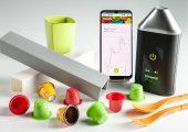 Mit Hilfe der Kombination aus handlichem Messgerät, der intelligenten Datenanalyse und der mobilen App lassen sich Kunststoffe genau bestimmen und unterscheiden. (Bildquelle: Trinamix)