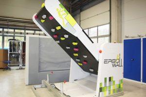 Ergo-Wall – erstes Produkt von ErgoTek für Freizeit und Physiotherapie. (Bildquelle: Wittmann Battenfeld)