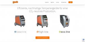 Effiziente Temperiergeräte für eine CO²-neutrale Produktion (Bildquelle: GWK)