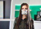 Hochwertige Mund-Nasenmaske, die Arburg entwickelt und mit Partnern realisiert hat. (Bildquelle: Arburg)