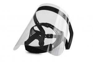 Das Haimer Face Shield Model 1 schränkt das Sichtfeld nicht ein und eignet sich für den Einsatz in produzierenden Betrieben (Industrie und Handwerk) und Büros. (Bildquelle: Haimer)