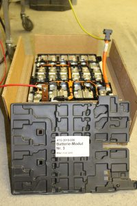 Mit diesem 4 kWh Batteriemodul wurden die Versuche durchgeführt. (Bildquelle: Empa)