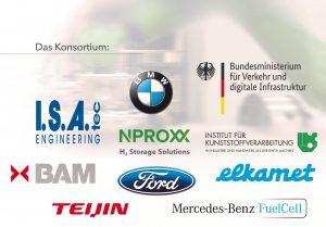 Das Projektkonsortium besteht aus insgesamt 9 Projektpartnern. Das Projekt wird gefördert vom BMVI und die Programmkoordination des Innovationsprojekts liegt bei der NOW.