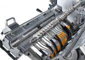 Die effiziente und schonende Mischwirkung ist ein Ergebnis der besonderen Funktionsweise des Ko-Kneters. (Bildquelle: Buss)