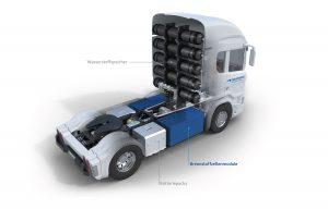 Freudenberg Sealing Technologies und Quantron entwickeln ein Brennstoffzellensystem für LKW. (Bildquelle: FST)