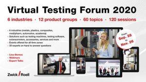 Zwick Roell veranstaltet erstmals das Virtual Testing Forum. (Bildquelle: Zwick Roell)
