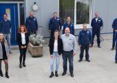 Christoph Brüning und sein sein Team freuen sich über das 15-jährige Firmenbestehen. (Bildquelle: Omnicycle)