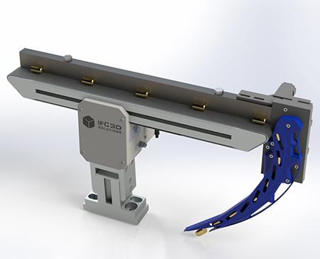 IFC beteiligt sich am Wettbewerg mit der 3D gedruckten Übergabeeinheit für Kleinteile. (Bildquelle: Cirp)