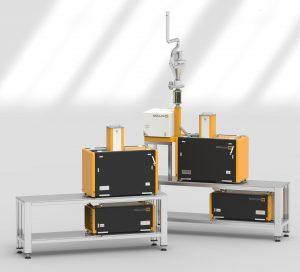 Die Prüfgeräte können je nach Anforderung als Stand-alone-Anlagen oder kombiniert als Linie verwendet werden. (Bildquelle: Collin)