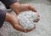 rPET Flakes, Ausgangsmaterial für klimaneutrales rPET. (Bildquelle: Alpla)