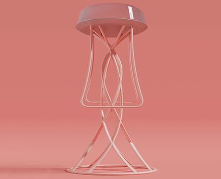 """""""Jellyfish Barstool"""" von Rico Knöll. (Bildquelle: Cirp)"""